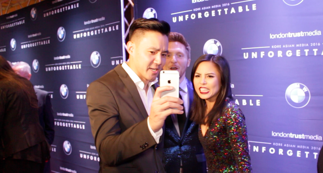 Phil Wang (Wong Fu), Brad Gage and Anna Akana taking a selfie