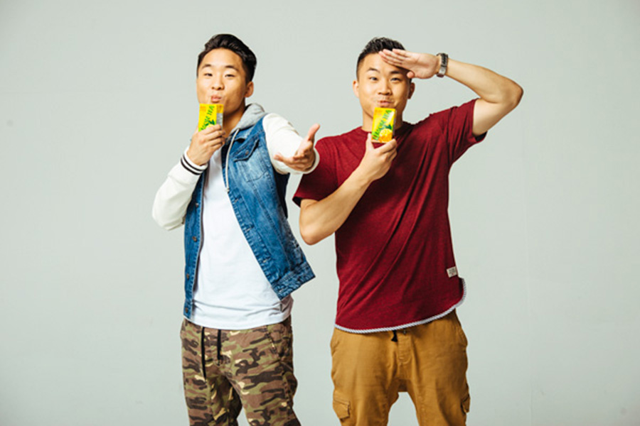 Andrew (27) and David (28) Fung - Born in Seattle and native to the San Gabriel Valley, Andrew and David Fung—or C-Pop Da Prynce and Yung Konfucius, as they respectively call themselves—are the two brains behind YouTube sensation the Fung Bros. With more than 100 million channel views under their belt, the Fung Bros have garnered a massive Asian American following for videos ranging from the comical woes of living with an oppressive Asian parent to more pressing social topics such as Asian stereotypes and racism. In regards to their immense success on YouTube and mainstream media, the brothers say that