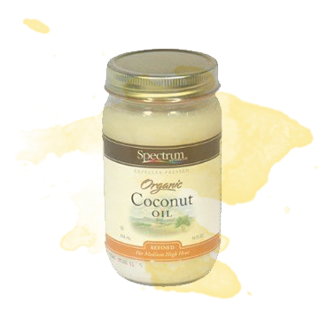 Alternative: Coconut Oil -  Eat the real stuff! (In general, it's always better to stick to foods with ingredients you are familiar with.) The best option here with the most nutritional benefit is raw, organic, and grass-fed butter, but that may not always be realistic because of price and availability. For those of you who are vegan, coconut oil is a tasty alternative and a great source of healthy fat. If you can't get your hands on either, just remember that even a pasteurized butter is still better than the artificial version.
