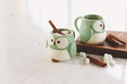 Viva Terra Owl Mugs (2 for $39) - Everyone knows half the fun in drinking tea is choosing which mug to brew it in. Gift this charming duo for your favorite couple pals with a selection of their favorite teas.