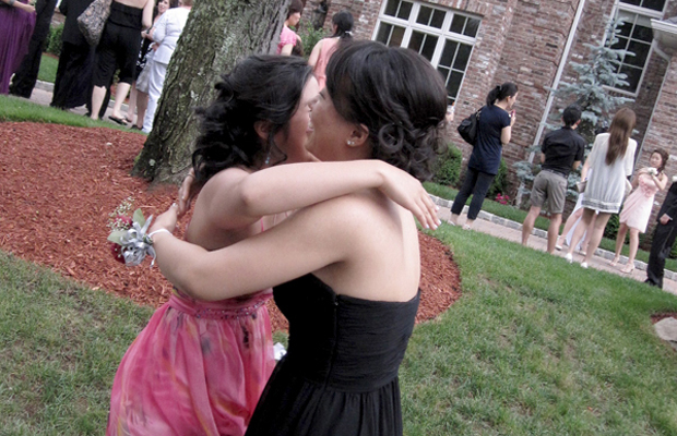 Sora Hwang, managing editor - If you spent way too many hours getting your hair and makeup perfected, there's no shame in greeting even one of your closest and oldest friends with an air hug at pre-prom. It's better than worrying about messing up that updo you spent months deciding on before pictures even begin.