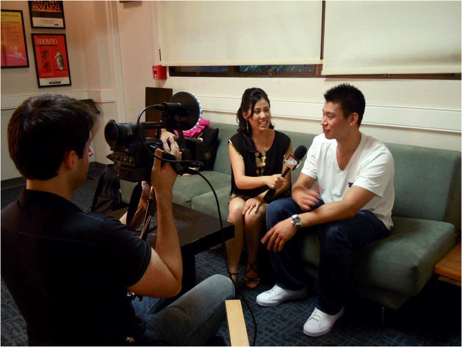 Interviewing Jeremy Lin before LINSANITY! Photo credit: Kim Le