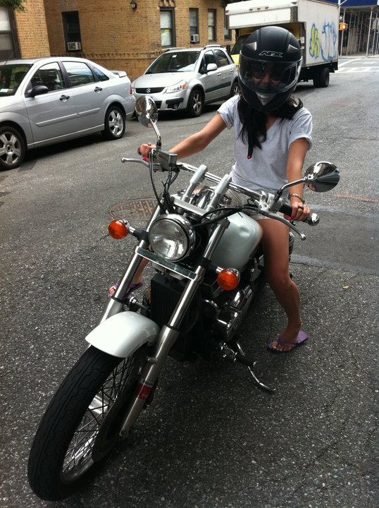 Esther Cho, fashion editor - My biggest fear: riding a motorcycle.My dad always told me to never ride a motorcycle so that most likely instilled an initial fear in me. I had a few friends during college who talked about how cool motorcycles were, but I didn't have the guts to actually ride one. A few years later, one of my ex-boyfriends mentioned that he invested in an old-school motorcycle and asked if I wanted a ride. After asking him a million questions about safety, I finally hopped on. I admit that I felt a sense of freedom with the wind blowing through my hair, but I was definitely relieved to end the ride and walk away knowing that I'd never have to do it again.Photo Credit: Esther Cho