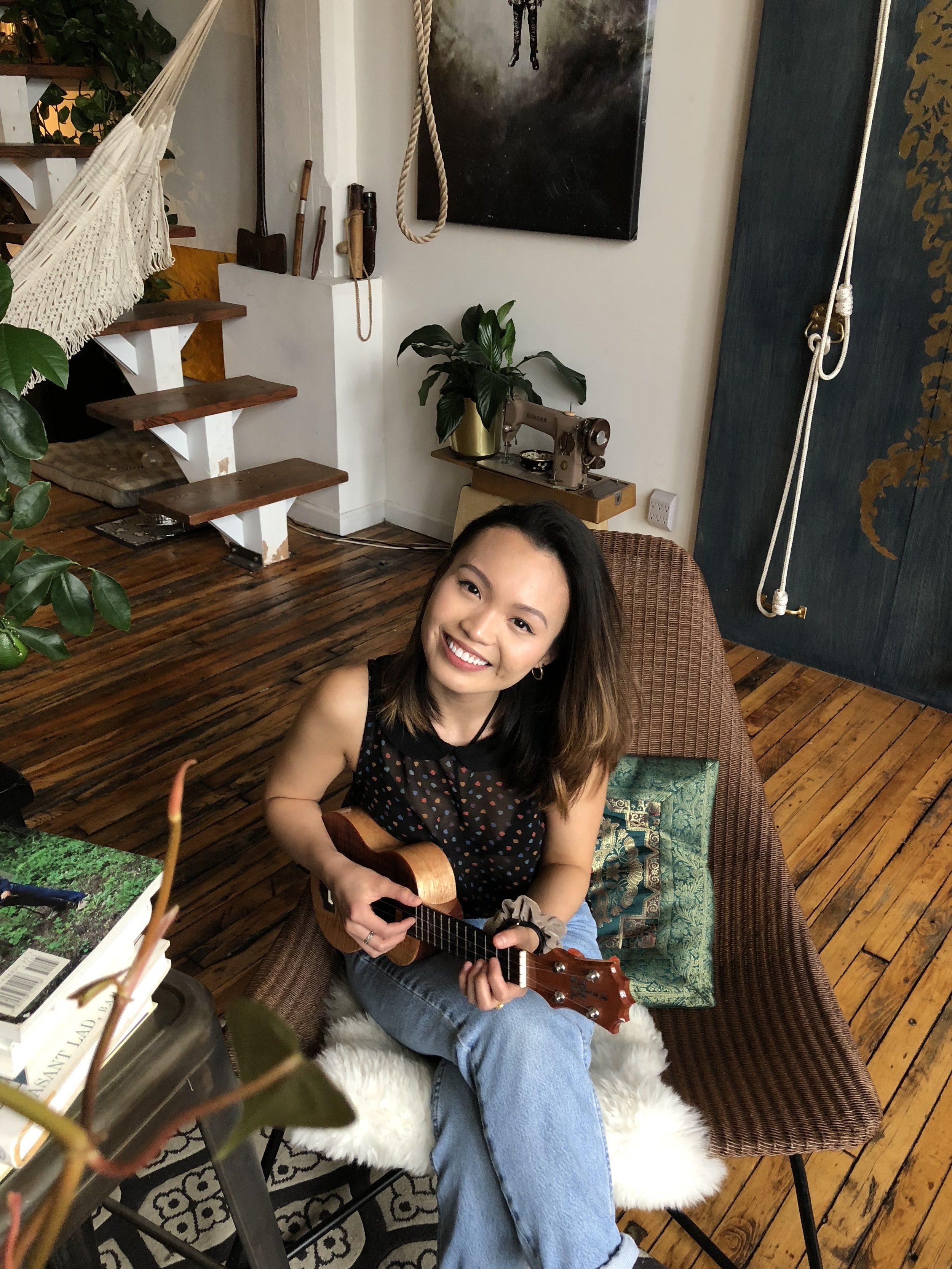 """Nix, 22 - You might not expect an acoustic cover of Nicki Minaj's """"Super Bass"""" to go viral, but that's exactly what happened to Nix. The YouTube singer's take on the rap/pop hit has garnered nearly 10 million views since it was posted in 2012. She has also put out ukulele covers of songs from diverse genres, such as a Wiz Khalifa track, and more recently, the Chinese classic """"The Moon Represents My Heart."""" Talking to NBC News for Asian Pacific American Heritage Month, the Malaysia native says when she first moved back to New York City as a teen, she barely spoke English and lived in a tiny apartment with her aunt. To cope with a lack of personal space and language proficiency, Nix turned to music as an escape. In college, she felt like an outsider among a campus of white and upper-middle-class students, and now she says she is lucky to travel around the country and perform for AAPI and Asian students. """"I love seeing someone like me/my younger self, a Southeast Asian woman, in my audience,"""" Nix said to NBC News. """"In sharing my story through my music, [these students] give me a glimpse of theirs in return. It's a really magical feeling when someone tells you you're the reason they started playing the ukulele. All these things keep me motivated."""" — R.Y.Image Courtesy of Nix"""