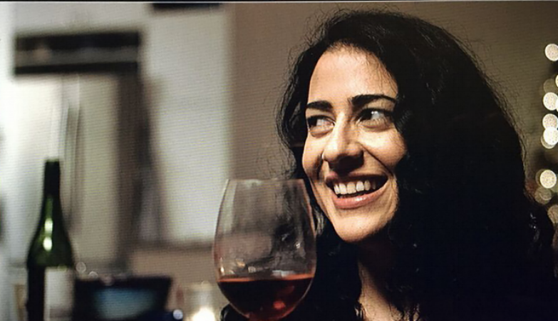 Nadine Malouf during filming