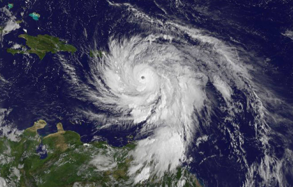 Image of Hurricane Maria via NASA on September 19 at 11 a.m.