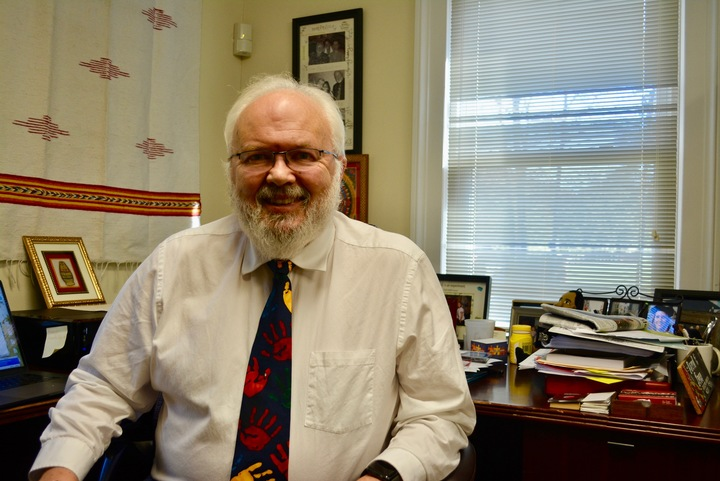 David Ives in his office