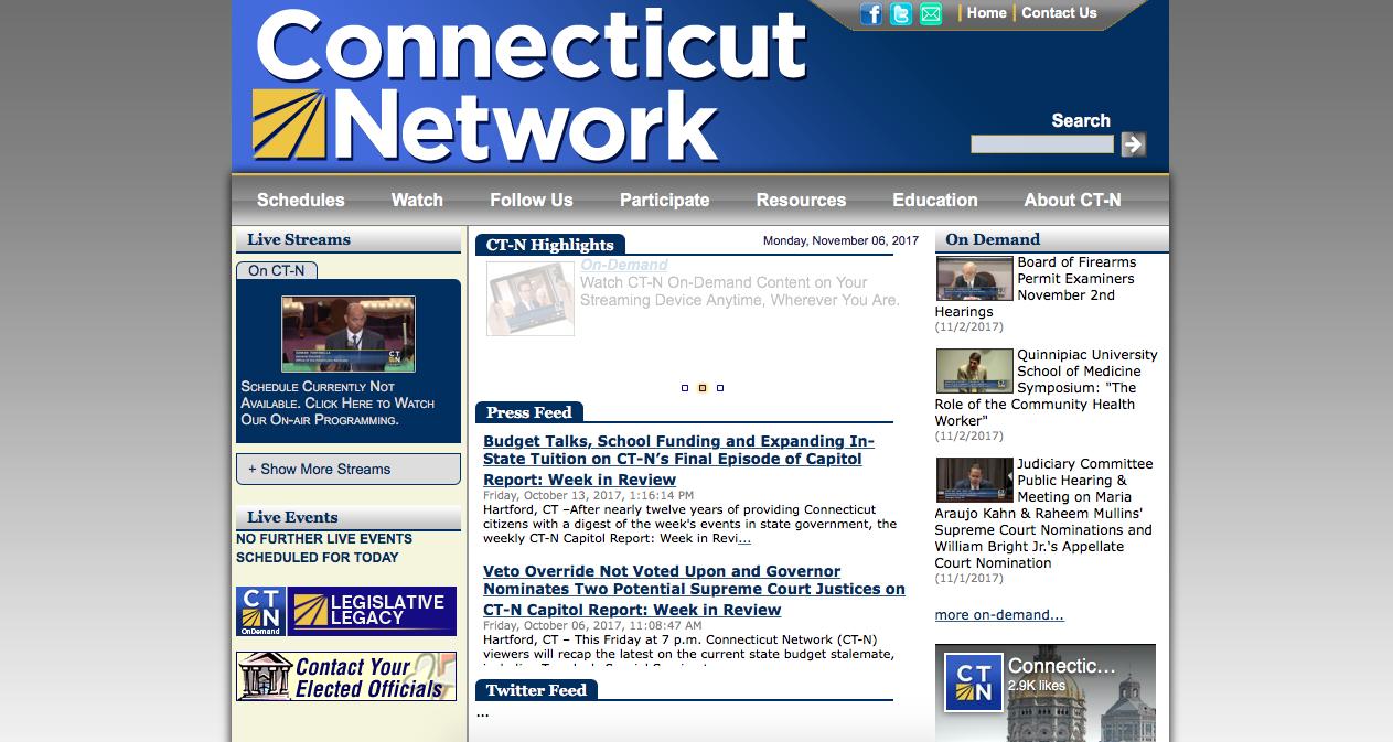 Screenshot from the CT-N website homepage.