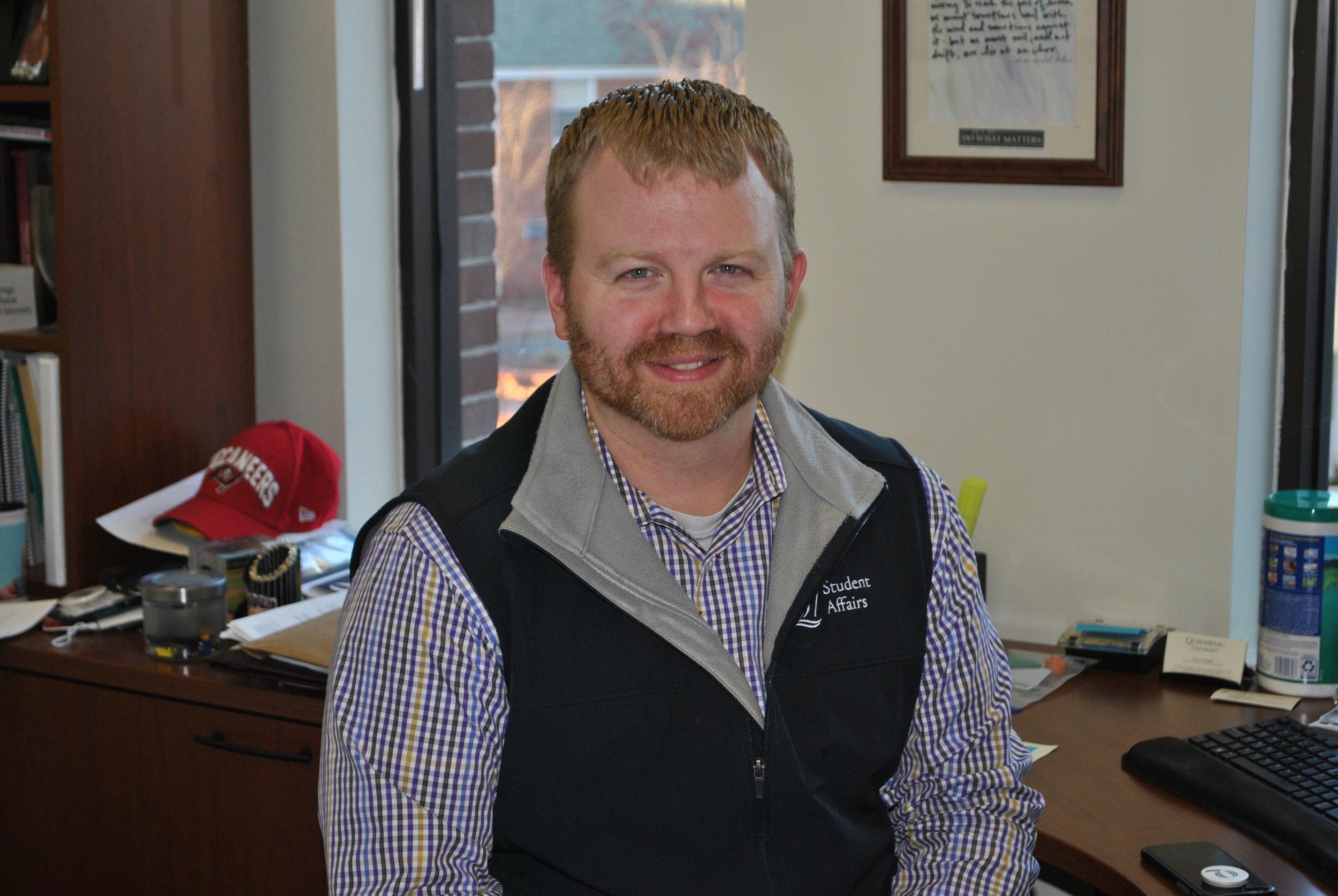 Associate Dean of Student Affairs and Deputy Title IX Coordinator, Seann Kalagher.