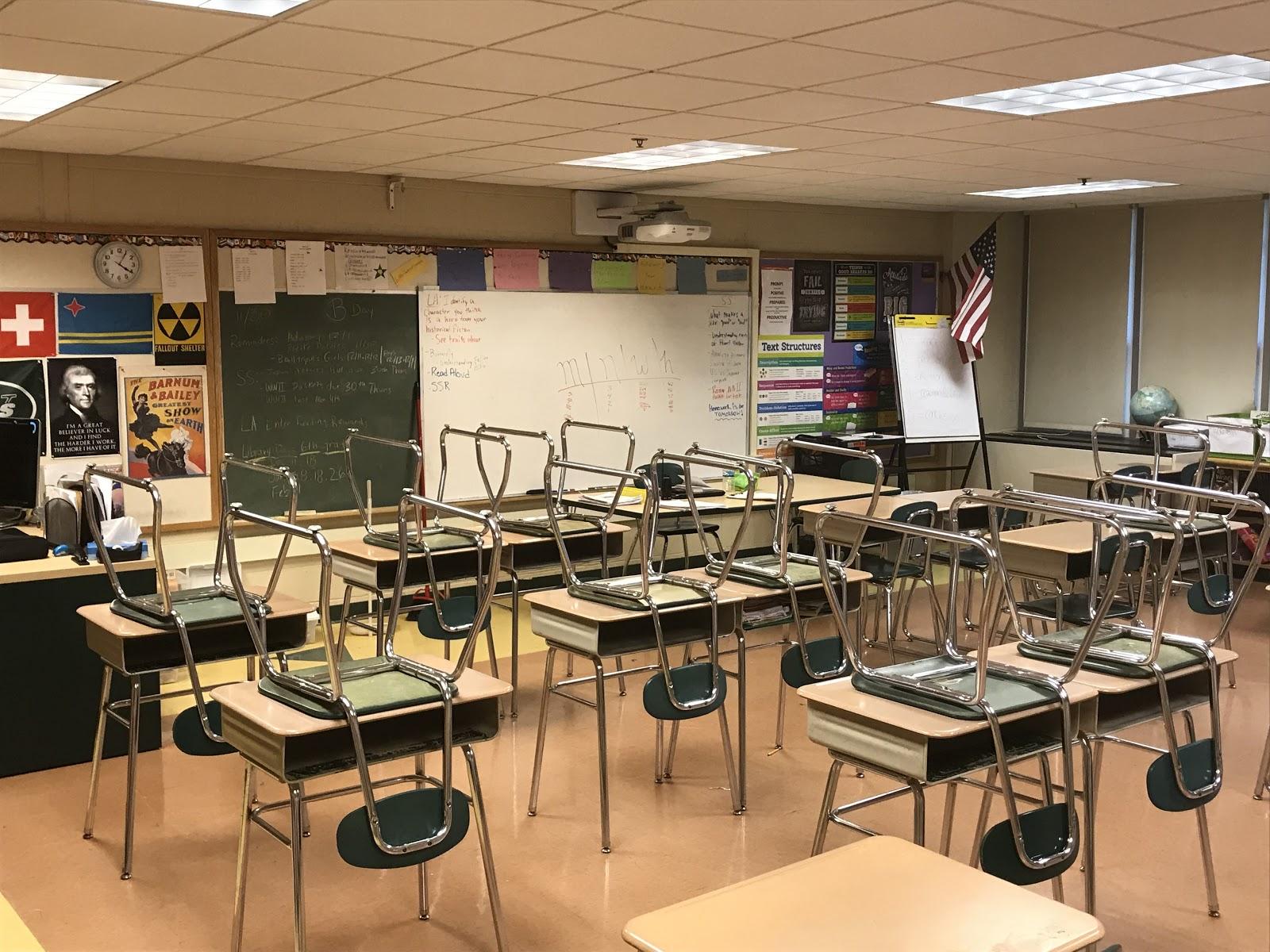 Salman Hamid's classroom at Wintergreen School.