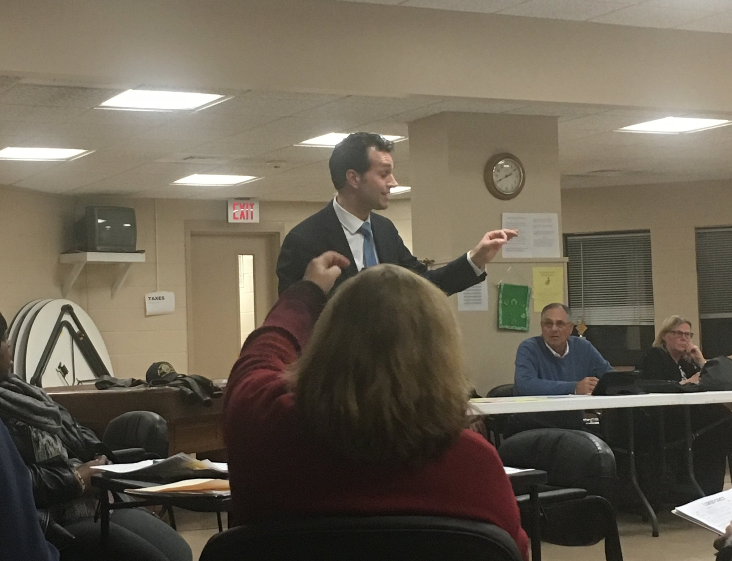 State Representative Michael D'Agostino addresses the committee