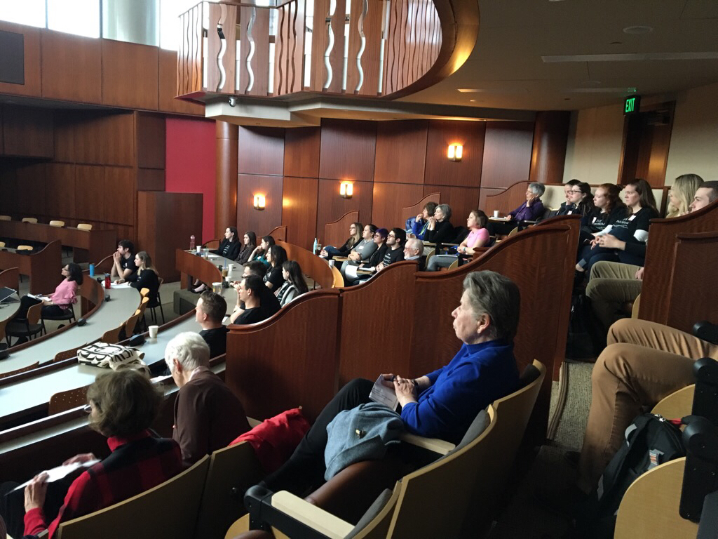 An audience of about fifty people attended the symposium.