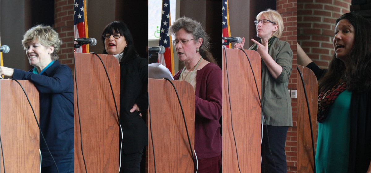 Sixteen speakers spoke at Quinnipiac's International Women's Day Teach-In.