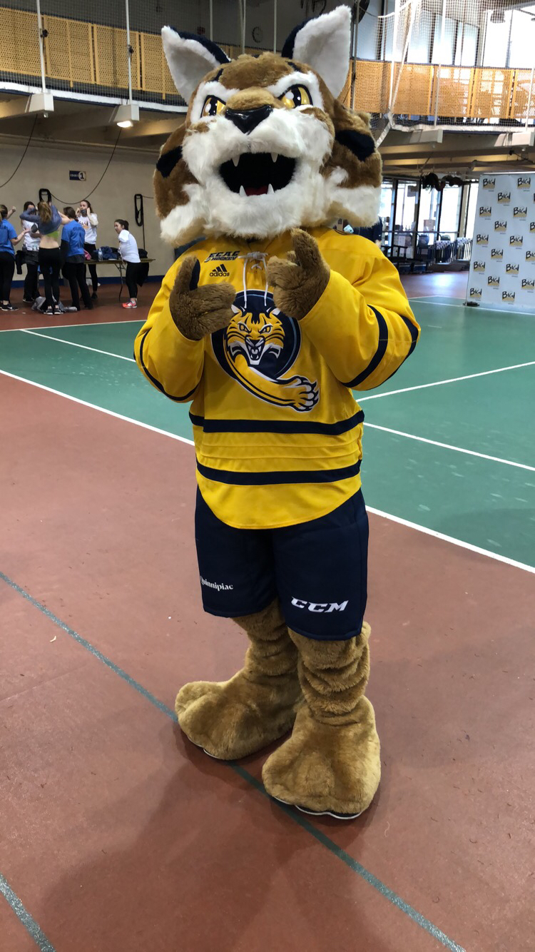 Boomer welcomes in Bobcats to the opening ceremony of the Big Event.