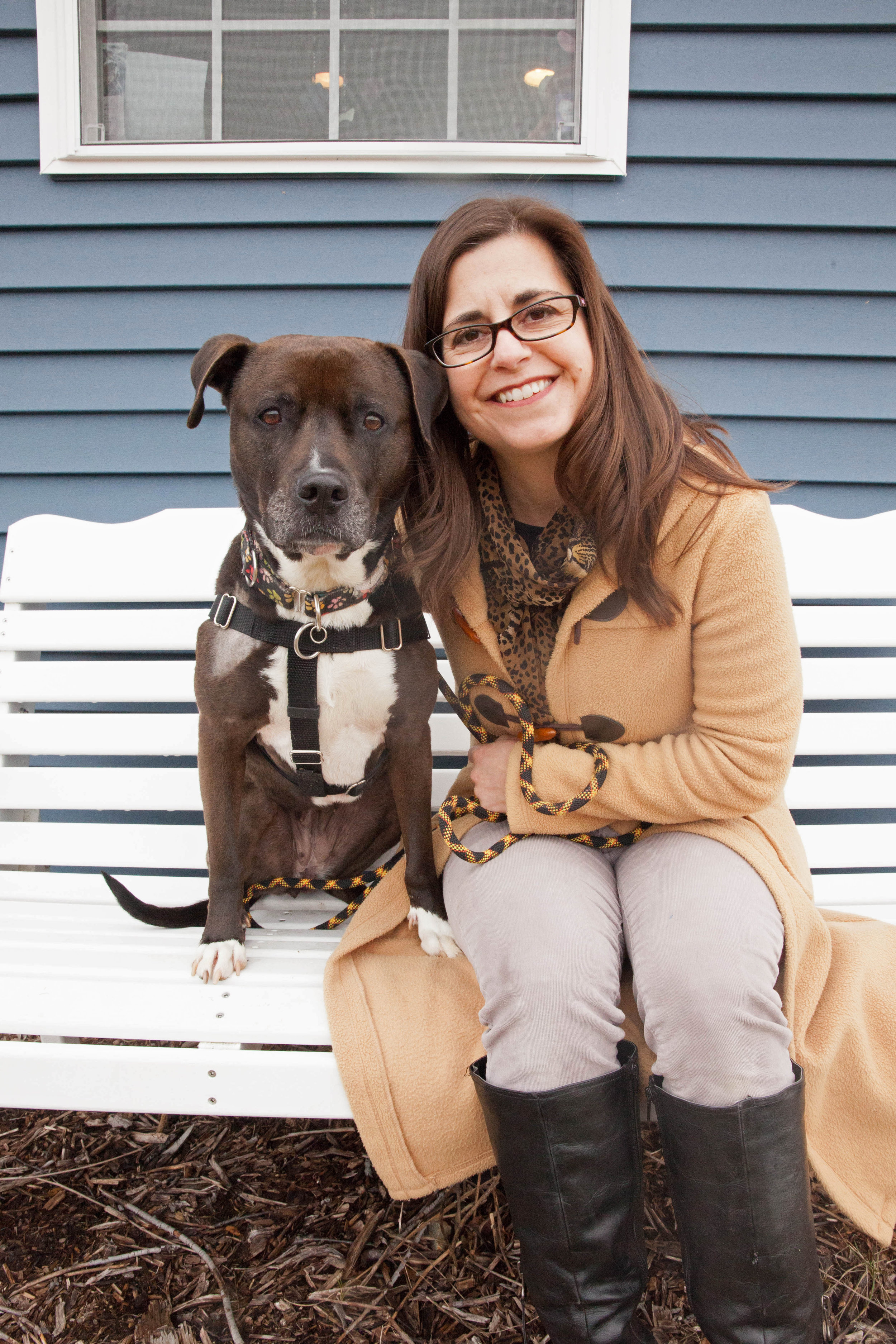 Susan Linker and one of her dogs.