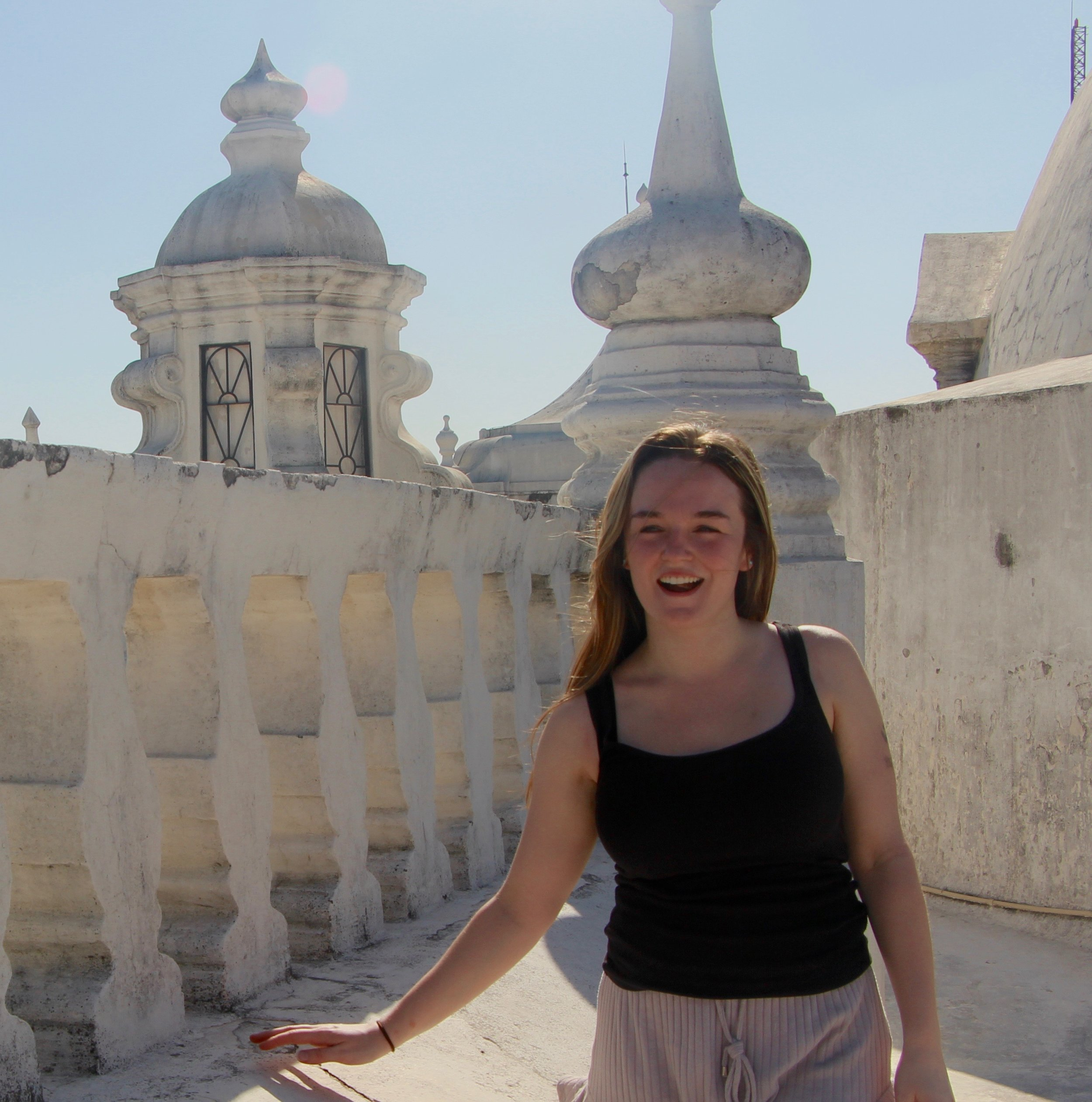 - Mackenzie Keenan at the top of the highest catholic church in Central America, León's own Our Lady Of Grace Cathedral.