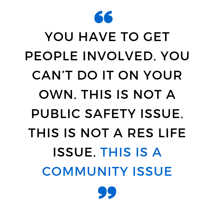 A quote from Chief of Public Safety Edgar Rodriguez