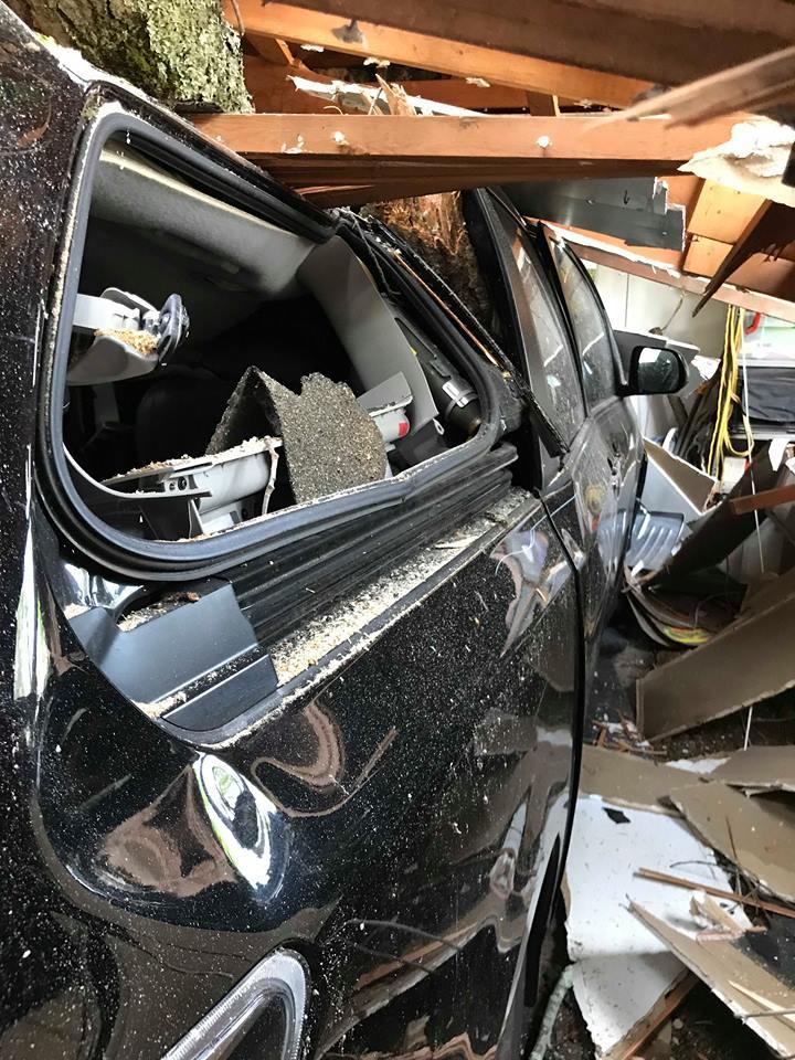 Destroyed Car and Garage Photo Cred: Roger Kepler