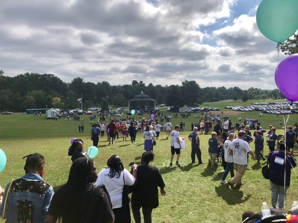 Out of the Darkness Community Walk held in Hamden, Conn. on Oct. 7, 2018