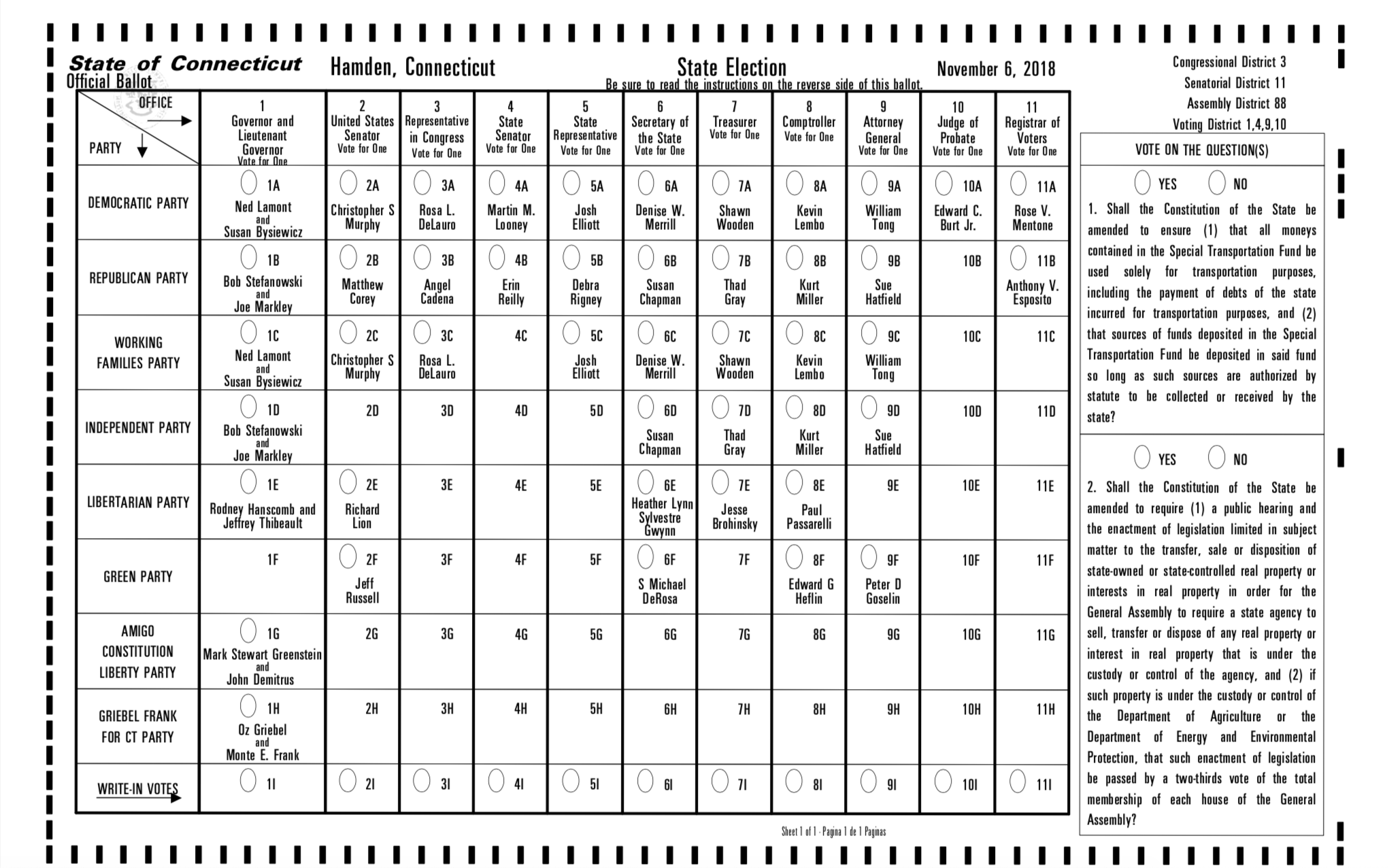 Hamden sample ballot. Click to see the full size image.