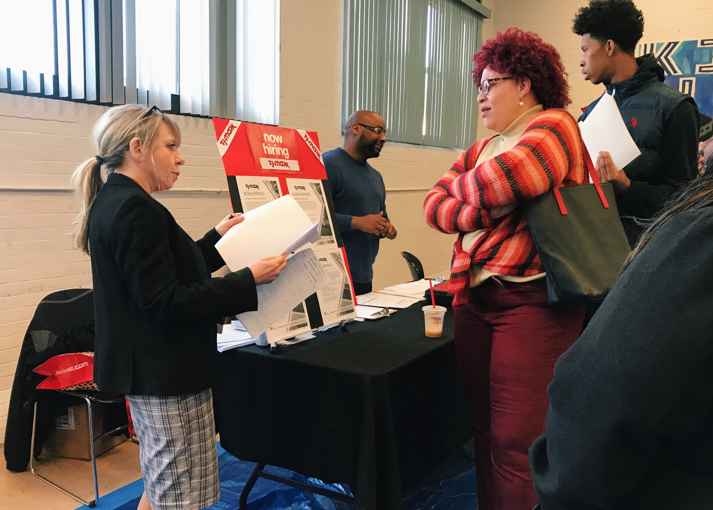 TJ Maxx was one of the event's most popular employers, with over 150 candidates filling out applications.