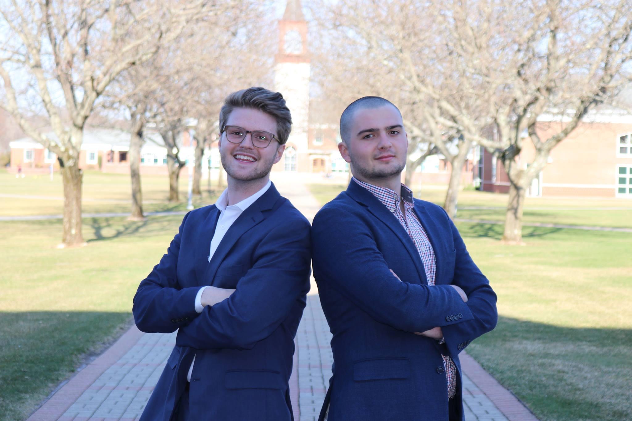 Austin Calvo, President Elect and Luke Ahearn, Class of 2020 Senator