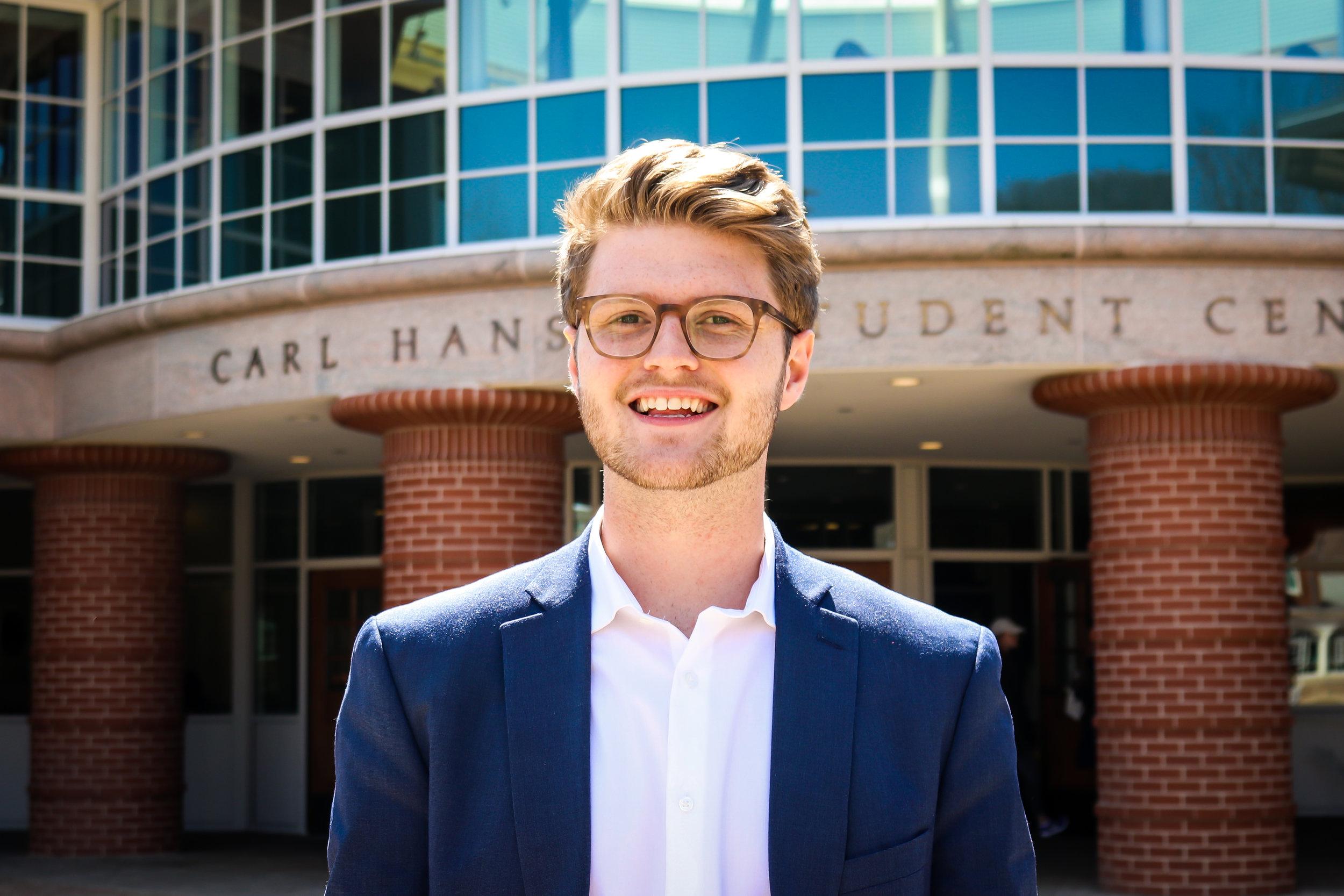 Quinnipiac Student Government Association President-elect Austin Calvo  (Photo courtesy: SGA)