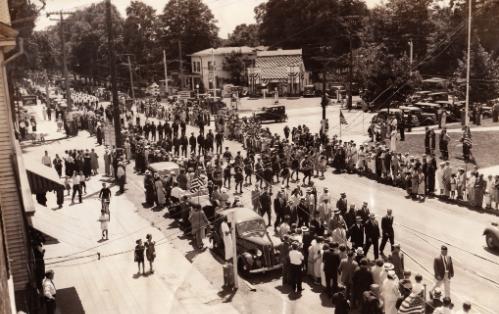Hamden center in 1936, courtesy of Dave Johnson