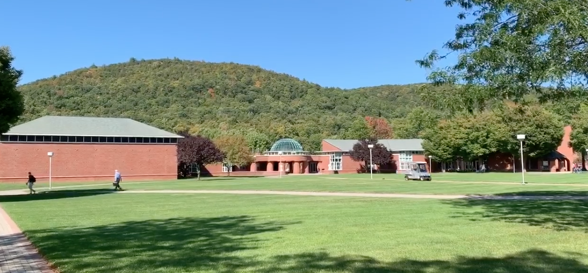 View of Sleeping Giant State Park from the Quinnipiac quad on the Mount Carmel Campus