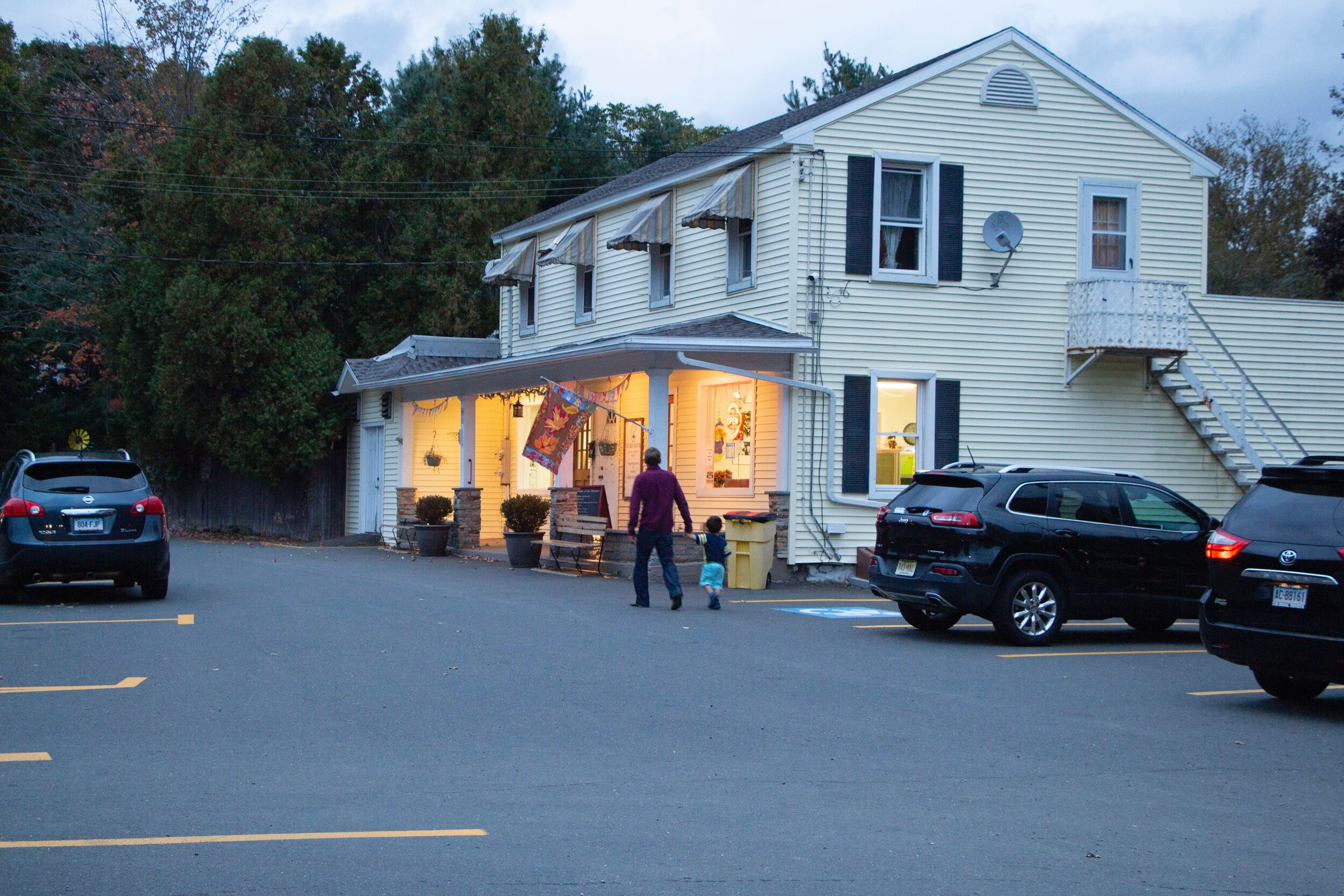 On a recent (and warm) Wednesday evening, customers at Wentworth Homemade Ice Cream enjoyed their treats inside.