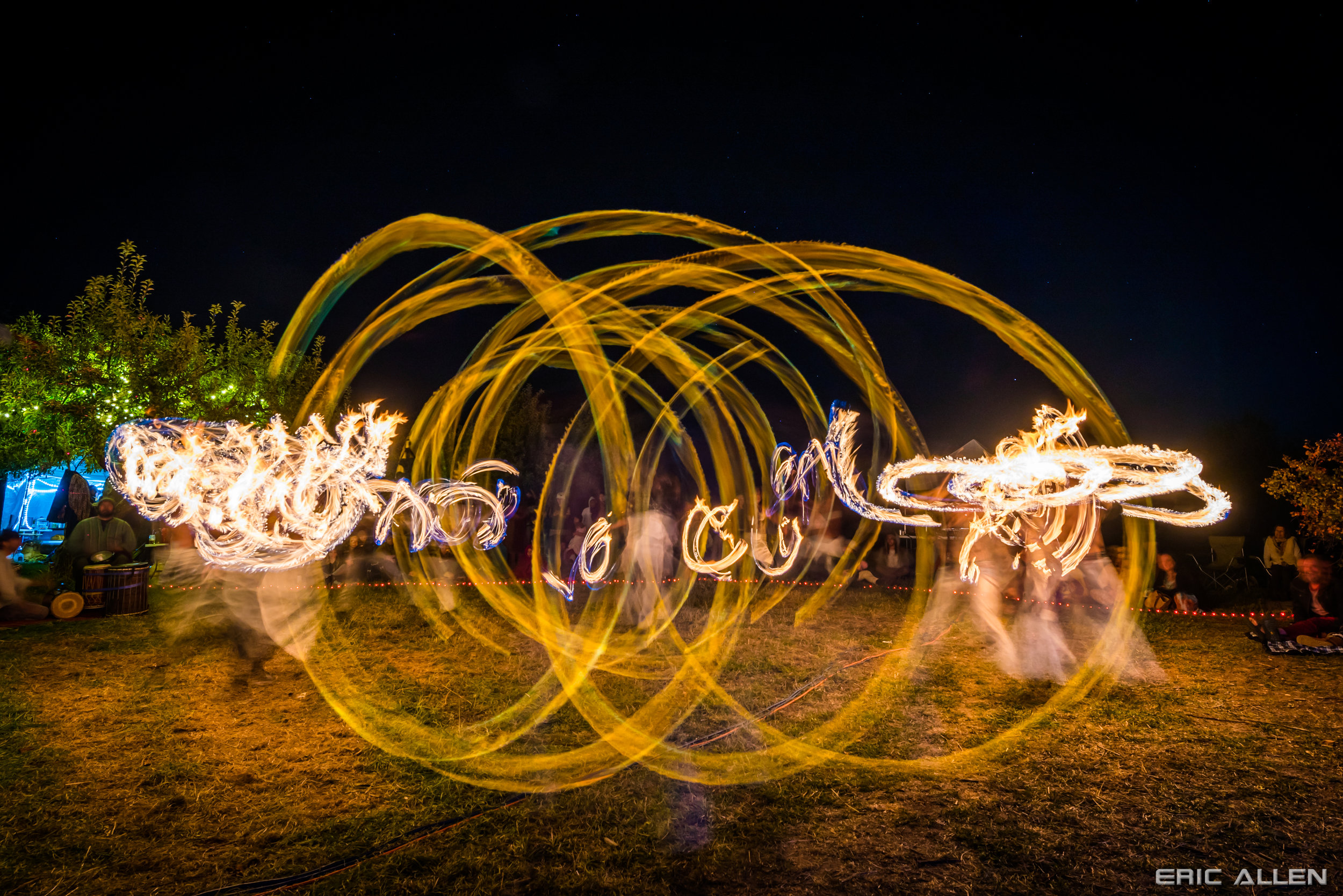 Fire dancers and drummers take Cohere 2017 participants to another plane.