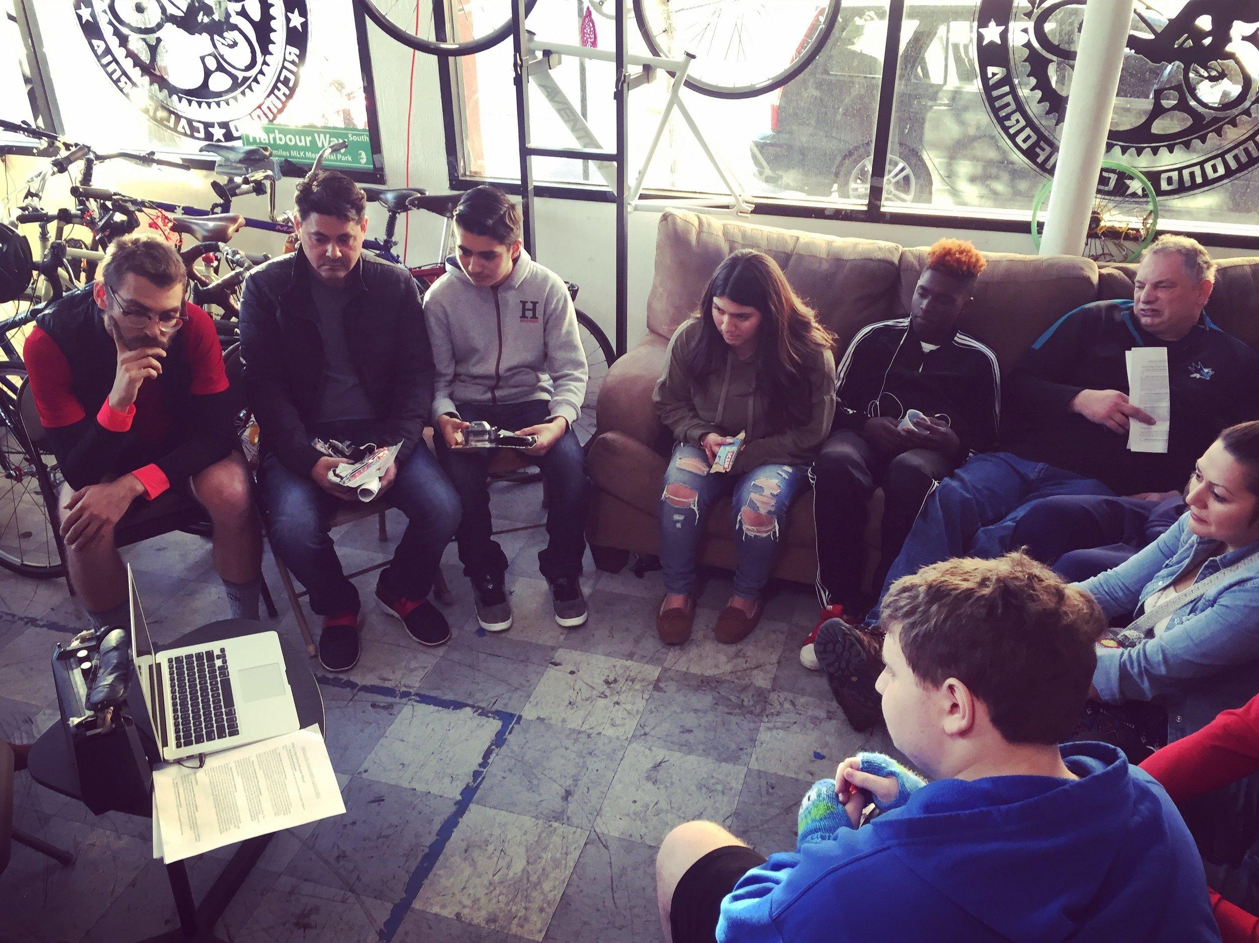 First team meeting @ Rich City Rides