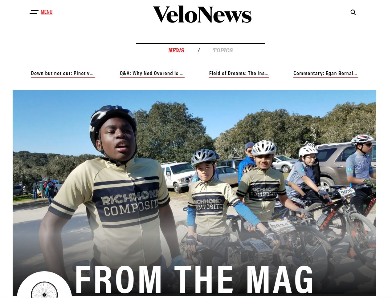 Image from a feature story in VeloNews
