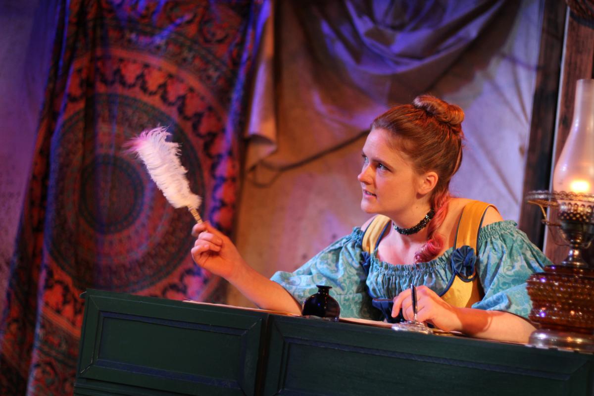 Anna Waldron as Aphra Behn. Photo by Chelsea ruscio