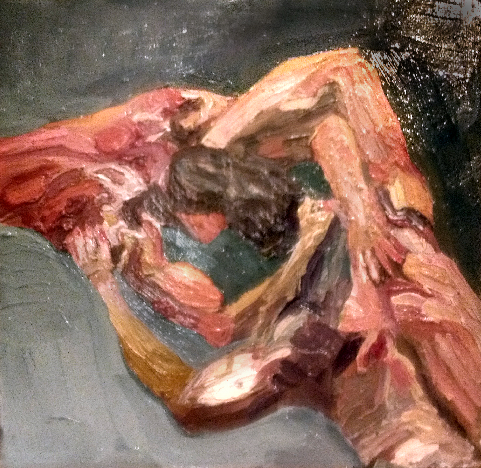 "Angela Kremer - No. 2   12"" x 12"" / oil on panel / $125"