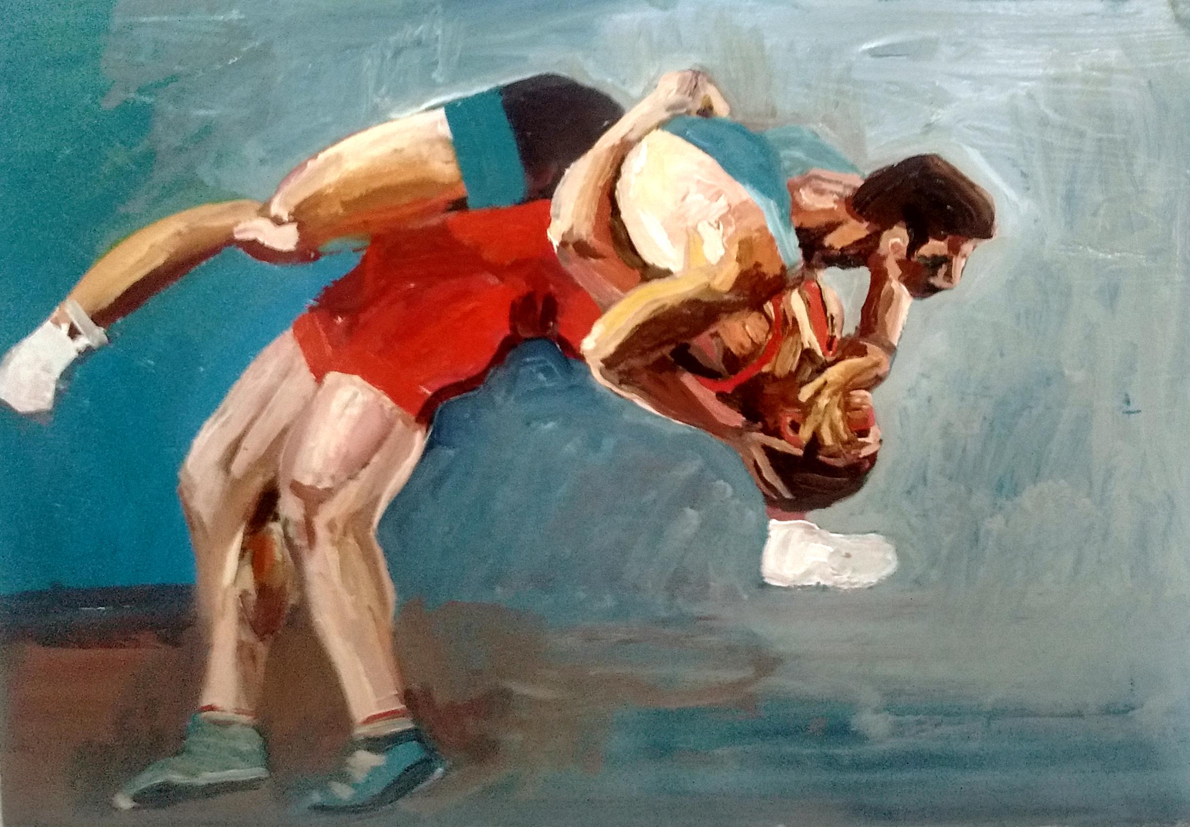 "Angela Kremer - No. 20   11""x14"" / oil on canvas / $175"