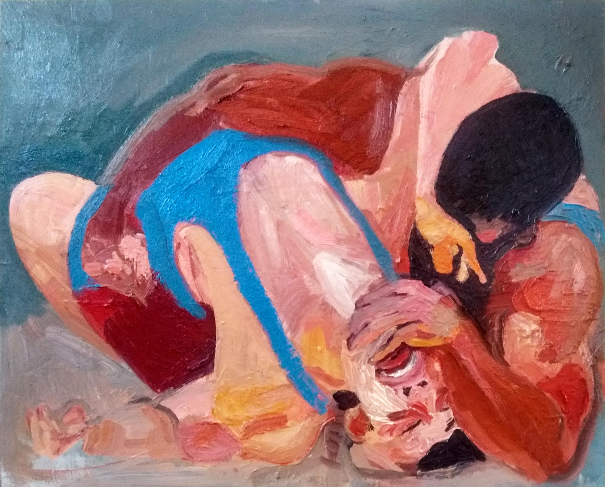 "Angela Kremer - No. 10   22"" x 36"" / oil on panel / SOLD"