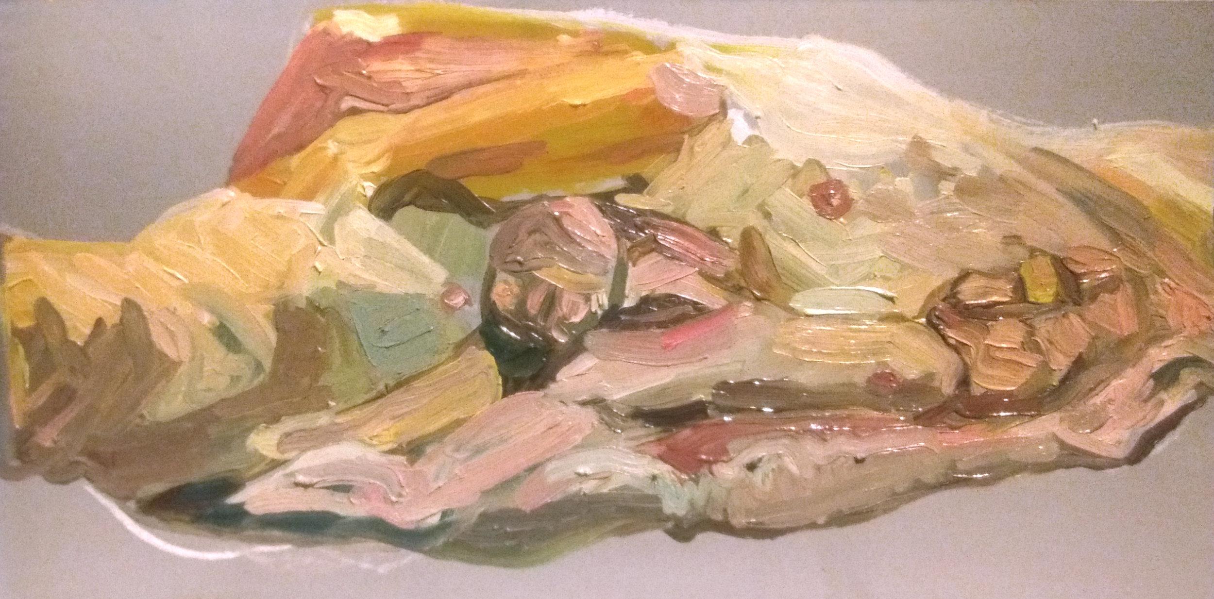 "Angela Kremer - No. 12   8"" x 16"" / oil on panel / SOLD"