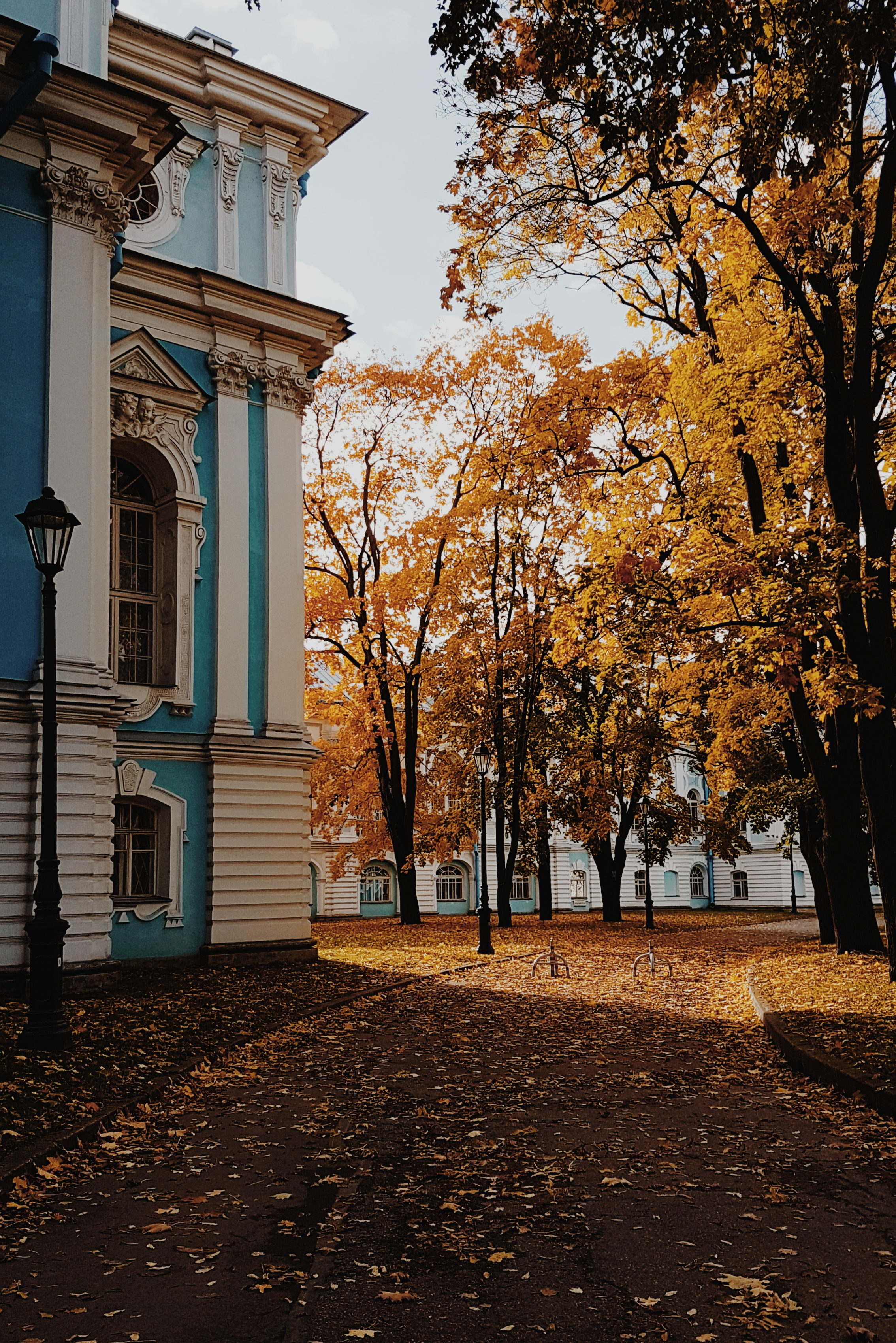 A rare sunny autumn day at St. Petersburg State University
