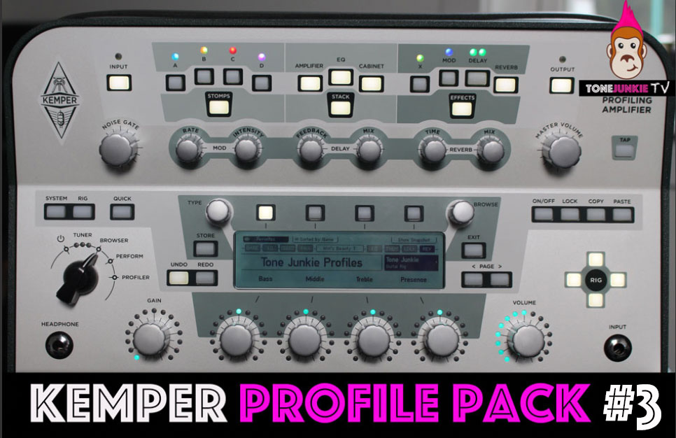 Pack #3 - The Official Tone Junkie Pack #3 contains 53 incredibly accurately captured profiles. This pack is full of chime and grind, cleans and it can get very mean. 6 amps were profiled in Profiled in Pack 3 making it one of the most versatile packs we have ever offered.Pack 3 includes...