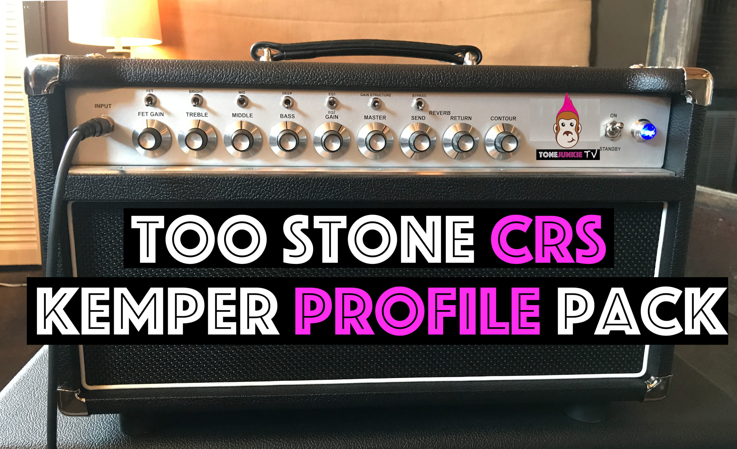 Too Stone CRS - The Too Stone CRS is an ideal pedal platform. Think Steel String Singer meets a Super Reverb. The Too Stone CRS Kemper Profile Pack features 27 profiles from high headroom cleans that can produce 3d swirling cleans with glassy highs and deep lows to overdriven blues and roots music. Profiles labeled