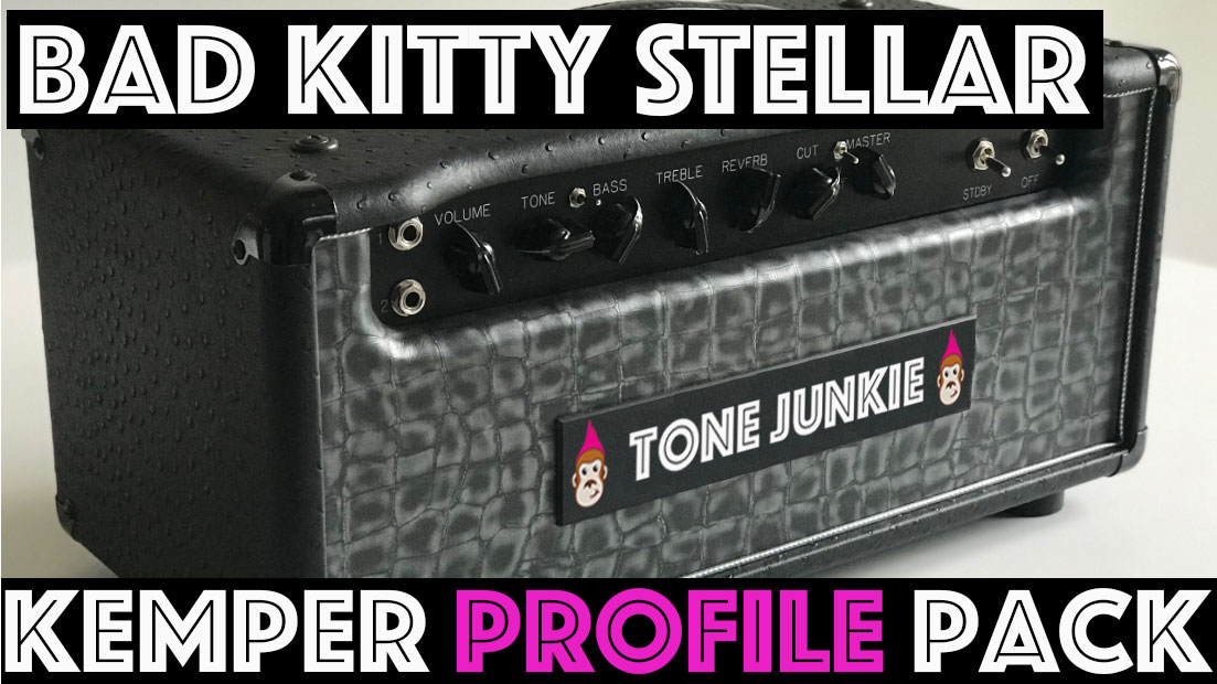 "The Bad Kitty Stellar Kemper profile pack captures the tones of the EF86/EL34 signature amp of ""The Duke of Tone!"" In a nutshell, this is the P&W rock amp! It's as if Rock n Roll put on it's Sunday best! The EF86 allows for enough clean headroom on ""T"" profiles to get sparkling bright cleans but overall, the EF86 provides a midrange crunch with a boutique million dollar high end that makes for amazing pushed midrangey crunch tones but with a super refined chimey top end. 43 beautifully captured profiles using our favorite Scumback M75 (Creamback) and Celestion Blues plus 5 direct profiles."