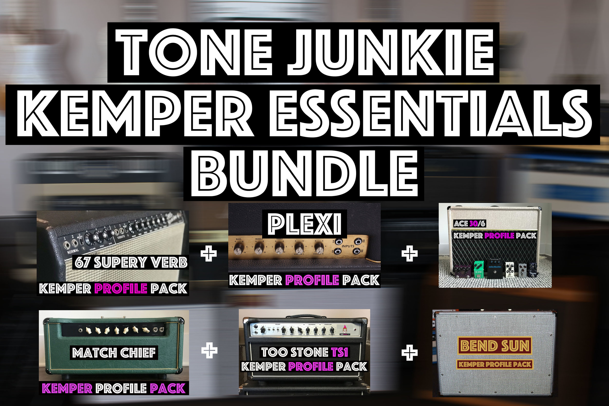 Essential Tones! - If you are looking for the absolute essential tones for your Kemper, this pack is for you. If you are new to Tone Junkie Profiles or the Kemper in general, this is a great bundle to start with. 67 Super reverb will cover all the classic American tones you're looking for while the ACE30/6 will cover British clean and chime. The Plexi pack goes from Hendrix to…