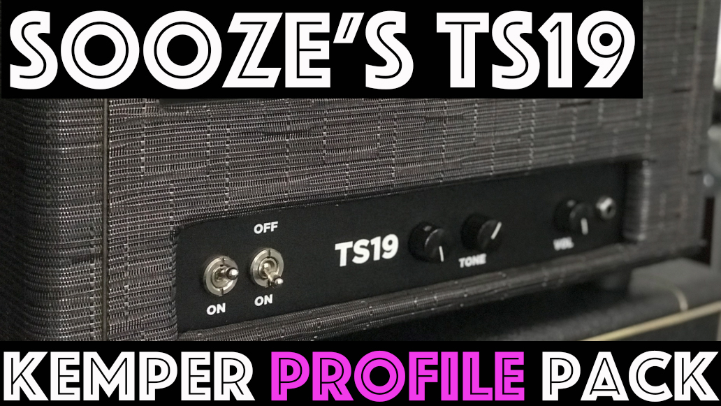 "Sooze's TS19!! - NEW RELEASEThe Sooze TS19 Kemper Pack captured the tone of an amp made specifically for our very own ""Sooze"". It is a unique combination of a Black Face Deluxe preamp section going into a Tweed style 6l6 power amp. This gives the Sooze's TS19 Kemper Profiles clean BF style headroom at cleaner settings but full punchy breakup at higher settings as the 6L6's break up. 3 speaker choices, 22 studio profiles and the Sooze's TS19 go to performance."