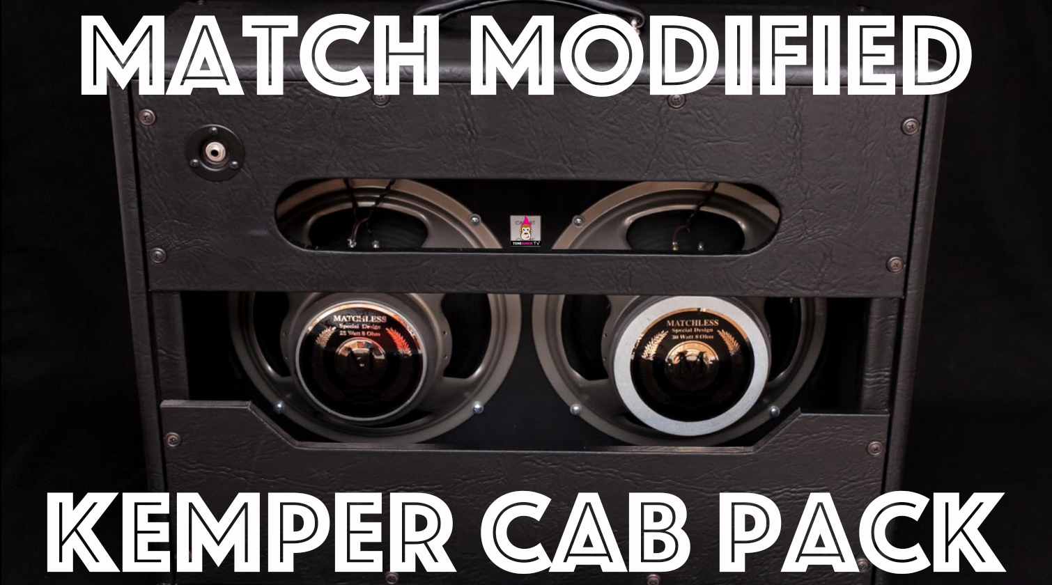 "The Match Modified Kemper Cab Pack features 20 close mic'd captures of a 2x12 Matchless Cabinet with Matchless Modified ""H30"" and ""M25"" speaker made by Celestion. They pair perfectly with Tone Junkie Direct and Studio profiles."