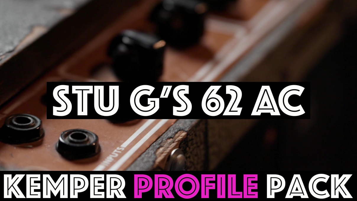 """Vintage Chime! - The """"Stu G 62 AC30 Kemper Profile Pack"""" seeks to capture the sound of maybe the best sounding amp I have personally encountered. This 62 pre top boost original AC with two original blues is the tone I have been chasing in my head. There are lots of great amps out there with lots of great tones. Everyone has different tastes, but in my humble opinion…These are the best profiles we have ever made!"""