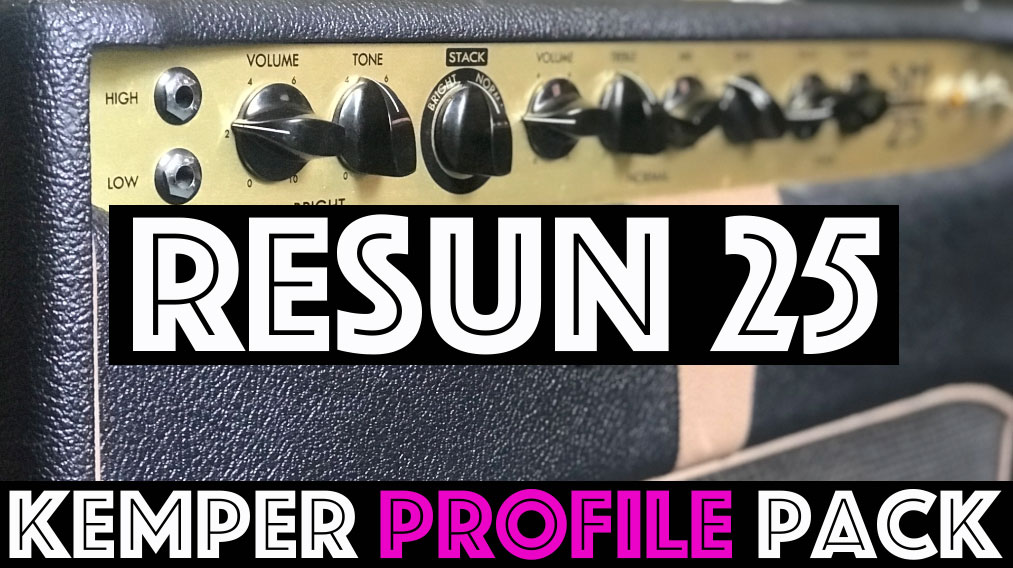 A Unique one! - The ReSun 25 Kemper Profile pack captures the sound of a unique British-esque circuit running EL34s with some familiar single channels but the ability to stack them together…