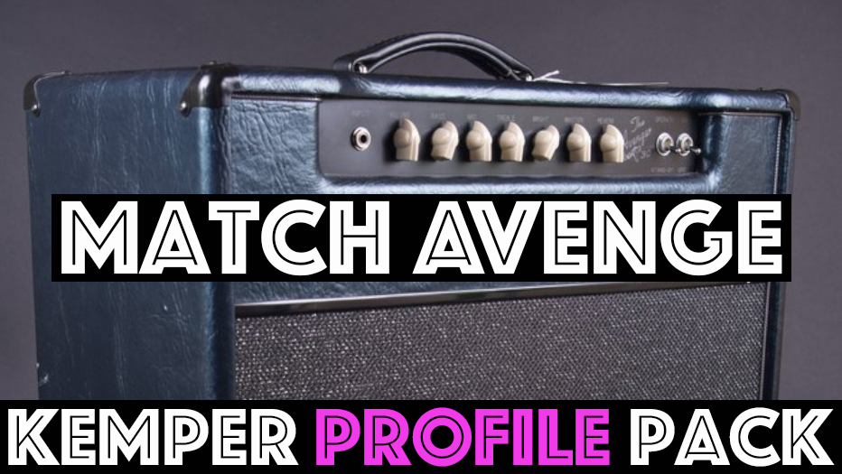 "Match Avenge!!! - The Match Avenge Kemper profile pack seeks to capture a unique combo amp featuring the Chief preamp running into a C30 el84 Power section. This pack contains multiple speaker and EQ across the pack. Traditional Match style tones can be found in profiles marked ""H"" and ""M"" (H30 and M25 speakers). Here you will find pushed thick mids perfect for overdrive and rock and as you would expect that signature million dollar top end…."