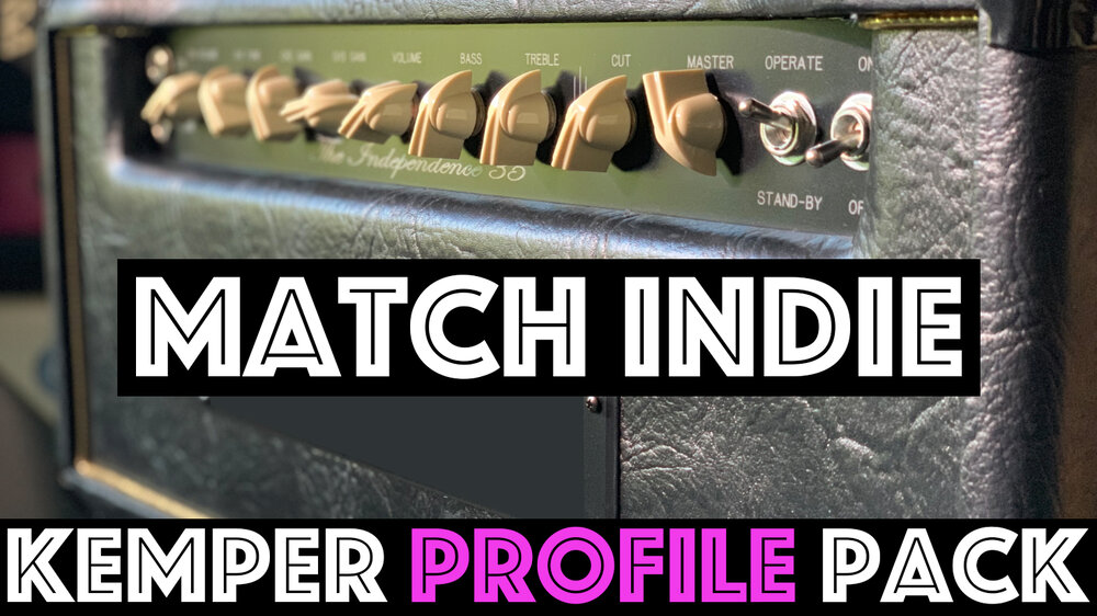 "Match Indie!!! - The Match Indie Kemper Profile pack seeks to capture the sound of an EL34 3 channel amp known for it's signature ""Million Dollar"" High end, beautiful cleans and rich harmonic breakup. This pack is unique from other ""Match"" packs in the broad range of tones from clean to high gain all tight that expected signature Match character!!!"