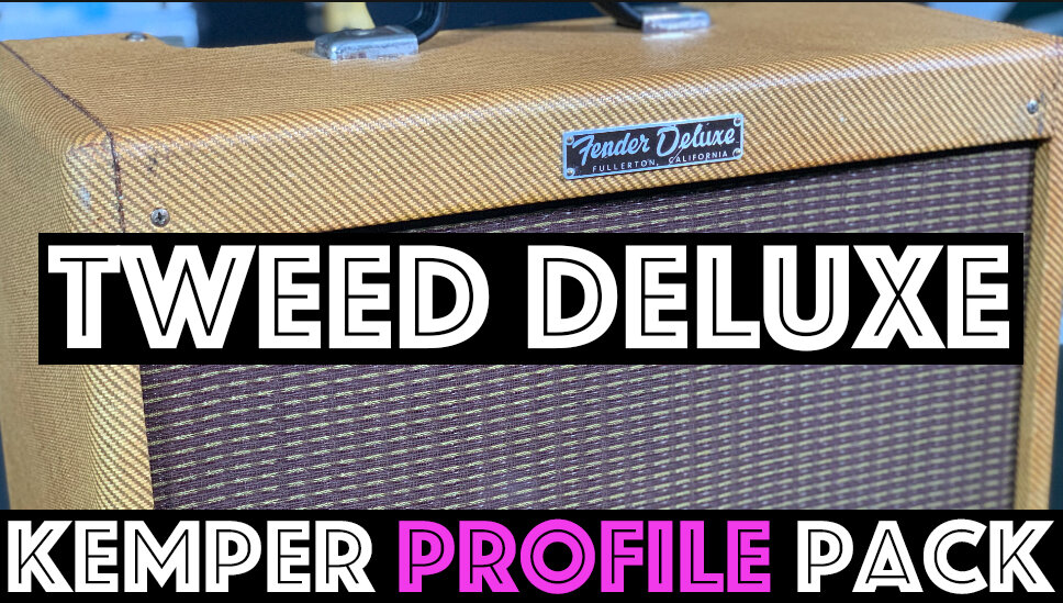 Tweed Deluxe!! - he Tweed Deluxe Kemper Profile Pack seeks to capture the sound of an old 50's 5e3 Tweed Deluxe captured thru a vintage Jensen speaker. The Tweed Deluxe Pack profiles contain the signature tweedy mid push and compression that has made this circuit legendary with Guitar players for decades. Bold cleans and barky mid-range make these profiles cut the mix….
